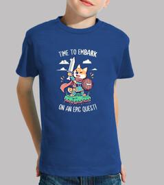 il est temps de se lancer dans une quête épique - shirt enfant