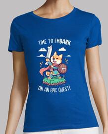 il est temps de se lancer dans une quête épique - shirt femme