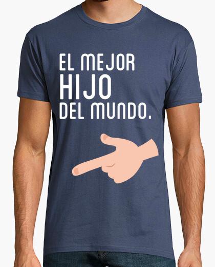 T-shirt il miglior figlio nel duo (adulto) mondo