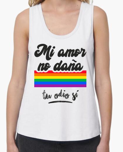 T-shirt il mio amore non fa male, il tuo odio si (sfondo chiaro)