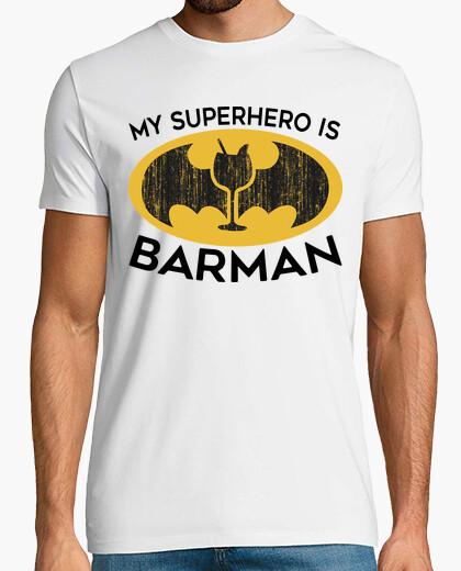 T-shirt il mio supereroe è barman