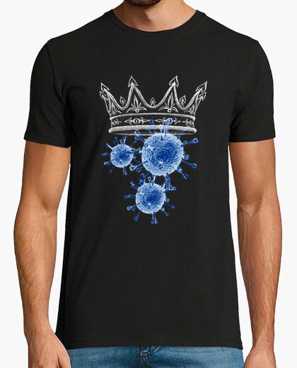 T-shirt il re del los virus di coronavirus