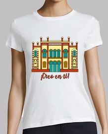 il teatro fallisce, credo in te t-shirt donna colorata t-shirt donna