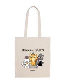 il trono di spade con gatti, nero, borsa