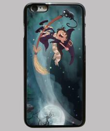 illustration sorcière volant