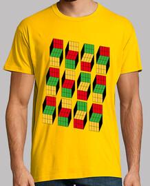 Ilusión óptica cubo Rubik