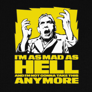 T-shirt I'm as mad as hell (Network)