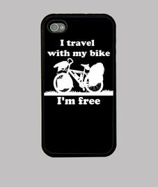 I,m free,I travel with my bike blanco