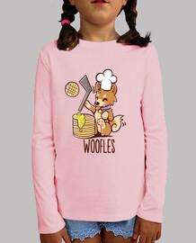 im haciendo woofles - camisa de los niños