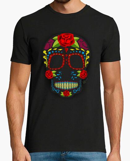 T-Shirt im mexikanischen stil zuckerschädel !!!