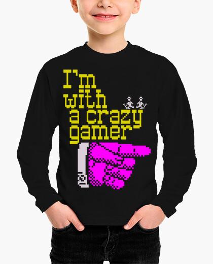 Ropa infantil I'm with a crazy gamer