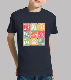 Imagine-Camiseta para los pequeños de la casa