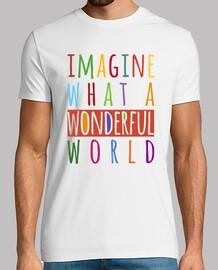 Imagine what a wonderful world