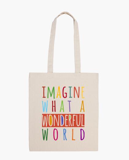 Borsa immaginate what un meraviglioso world