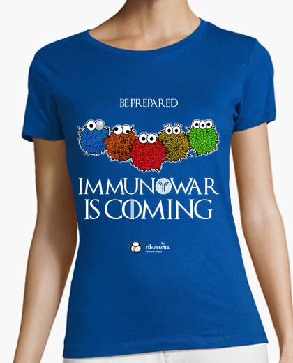Tee-shirt immunowar est à coming (fond sombre)