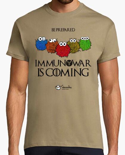 Camiseta Immunowar Is Coming  (fondos claros)