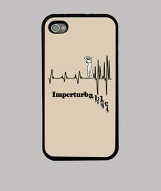 Imperturbable F Coque iPhone 4, noire