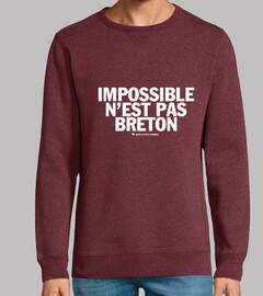 imposible no es breton - sudadera ligera hombre