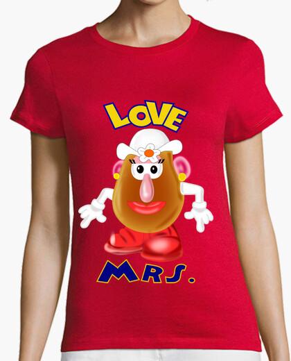 T-shirt imposta x2 coppie mrs. e il sig. storia d'amore, signora