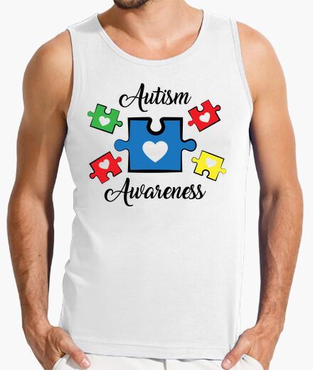 Camiseta impresión de conciencia de autismo