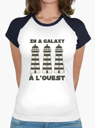 Tee-shirt In a galaxy phare phare phare à l'ouest - T-shirt femme baseball