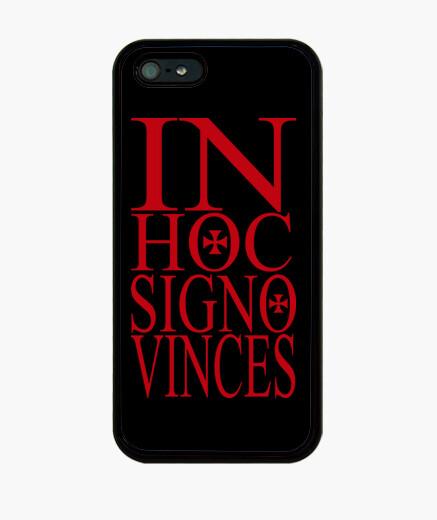 Funda iPhone IN HOC SIGNO VINCES rojo