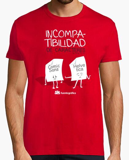 Camiseta Incompatibilidad de caracteres