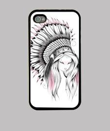 indian headdress pink version