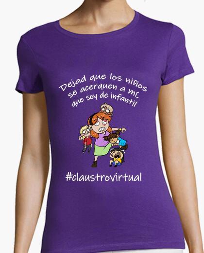 Camiseta infantil mujer blanco