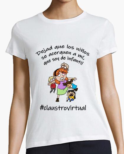 Camiseta infantil mujer negro