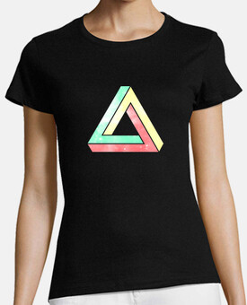 infinite penrose triangle - green / yellow / red