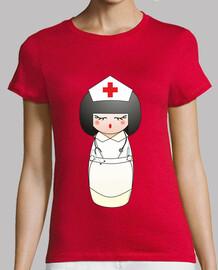 infirmière  tee shirt  kokeshi