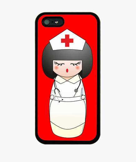 Coque iPhone infirmière kokeshi