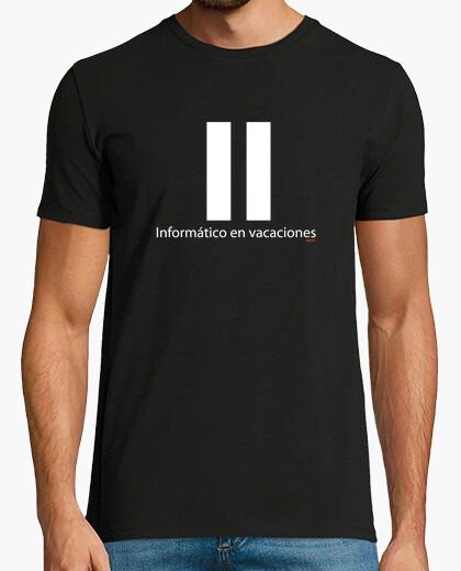Camiseta Informático en vacaciones