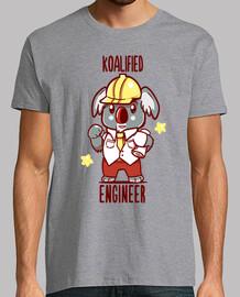 ingegnere koalificato - koala animal pun - camicia da uomo