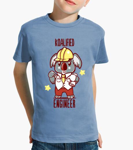 Ropa infantil ingeniero koalified - juego de palabras con animales koala - camisa de niños