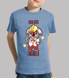 ingeniero koalified - juego de palabras con animales koala - camisa de niños