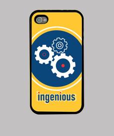 ingénieux, étui iphone 4, noir, original mcharrell.