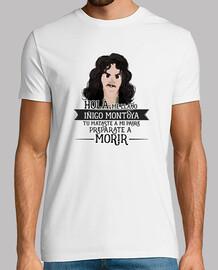 iñigo montoya - man, short sleeve, white, extra quality