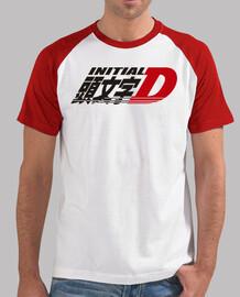 Initial D, manga corta, blanca y rojo