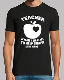 insegnamento t-shirt testo bianco e rosso
