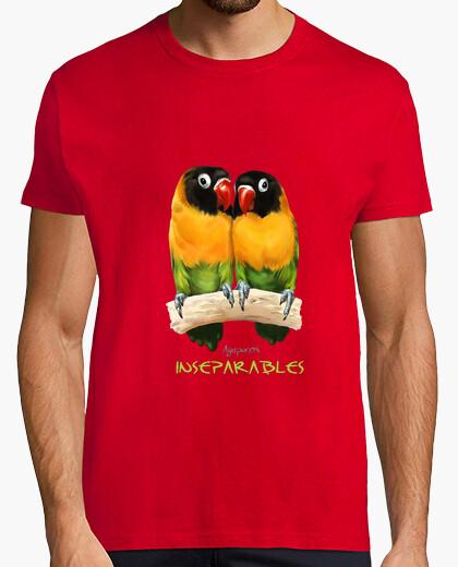 Camiseta Inseparables agapornis