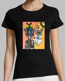 Inspiration solaire. Tee shirt femme, noir, qualité supérieure