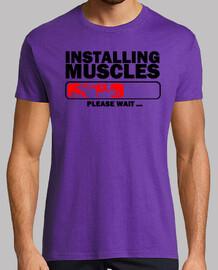 instalación de los músculos