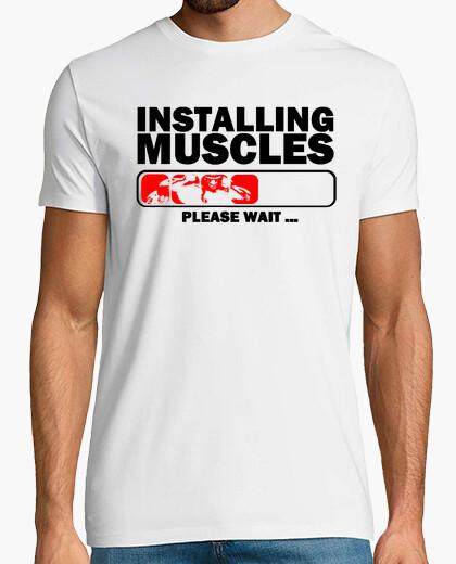 T-shirt installazione muscoli