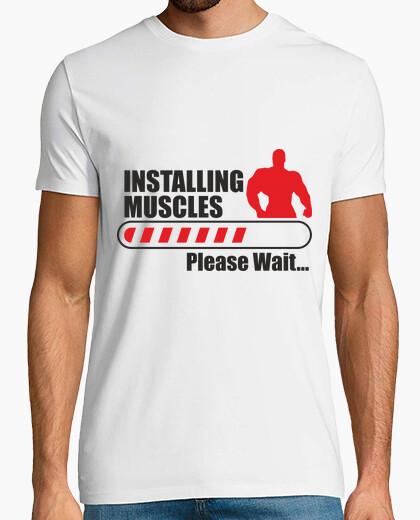 Tee-shirt Installing muscles