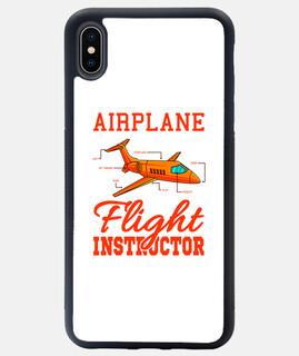 instructor de vuelo plano de avión