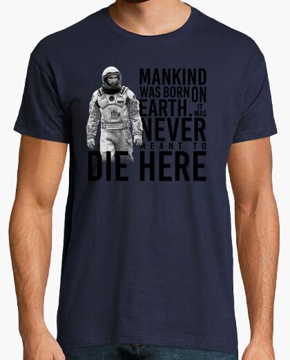 Interstellar - cooper and mankind t-shirt