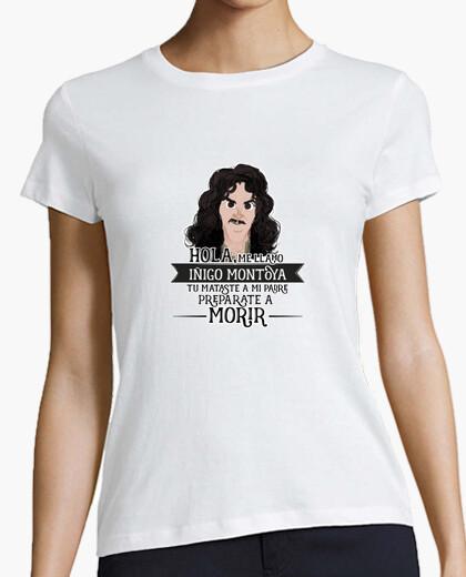 Iñigo montoya - woman, short manga , white, premium quality t-shirt