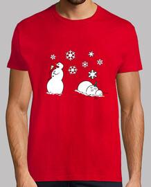invierno odio muñecos de nieve - hombre camiseta